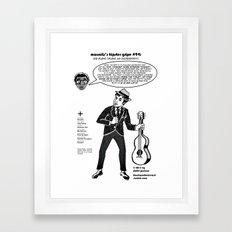 Hipster Gripe #94 Framed Art Print