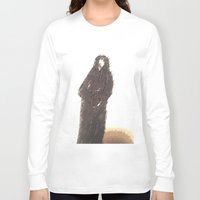 snape Long Sleeve T-shirts featuring Snape portrait to remember his death RIP Alan Rickman by Drake Darklight