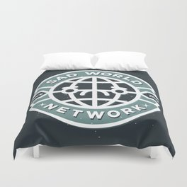 SAD WORLD NEWS NETWORK Duvet Cover