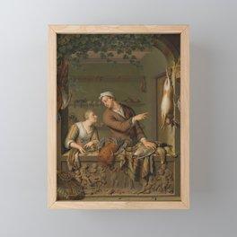 The Poultry Seller, Willem van Mieris, 1733 Framed Mini Art Print