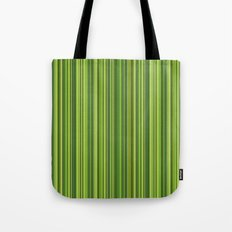 Many multicolored strips in the green sample Tote Bag