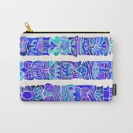 Tiki Totems – Indigo Palette Carry-All Pouch