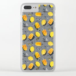Fresh Lemons & Frozen Pops Clear iPhone Case