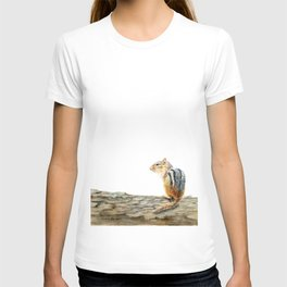 Little Chip - a painting of a Chipmunk by Teresa Thompson T-shirt