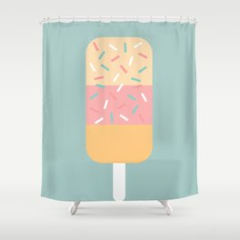 Popsicle (Mint) Shower Curtain