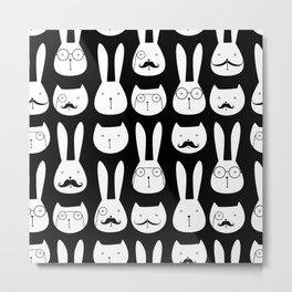 cats and rabbits Metal Print