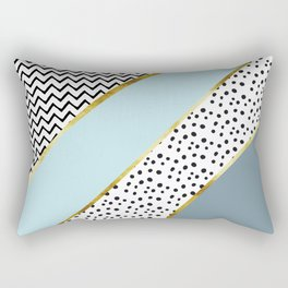 Happy Abstract | blue Rectangular Pillow