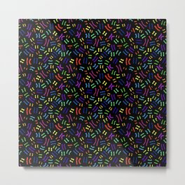 Rainbow Chromosomes Metal Print