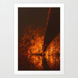 Night Sparks Art Print