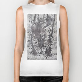 Black Splatter Text Biker Tank