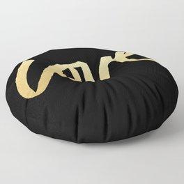 Love Gold Black Type Floor Pillow