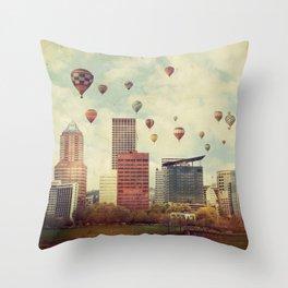 Portland Oregon Whimsy Throw Pillow