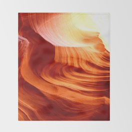 Bright Antelope Canyon Colors Throw Blanket