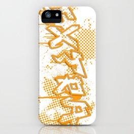 extra splash orange grafitti design iPhone Case