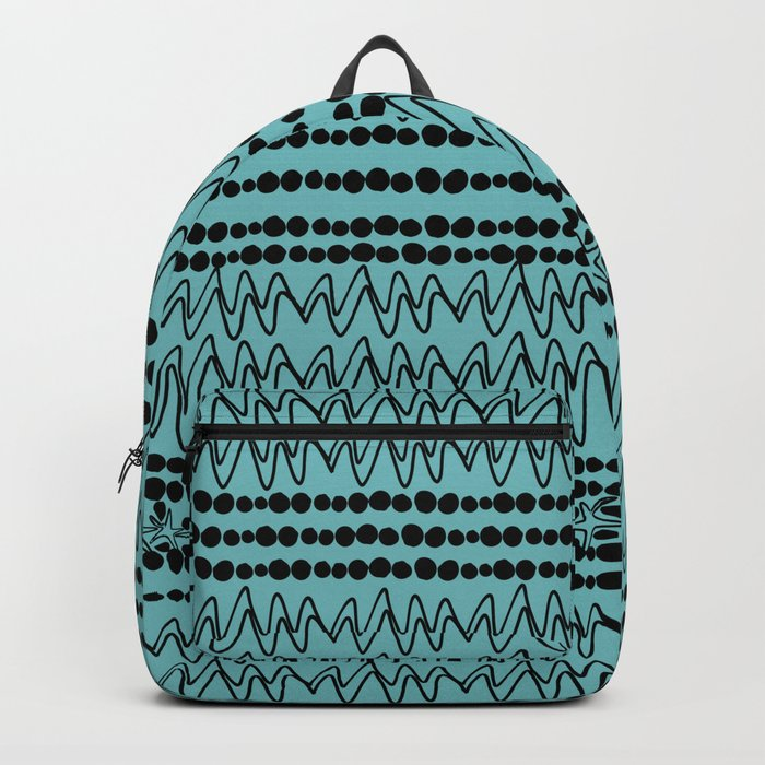 squiggle lines 2 Backpack