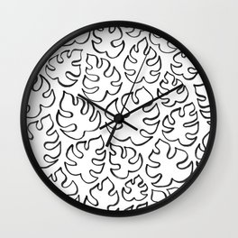 Mini Monstera Outline Wall Clock