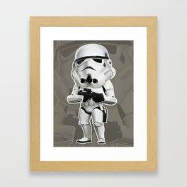 Mini Stormtrooper Framed Art Print