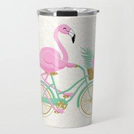 Tropical Flamingo Bike Travel Mug