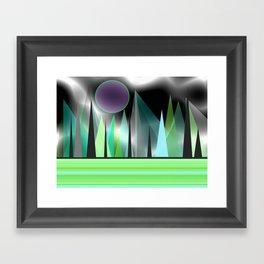 Northern Lights - Landscape Framed Art Print