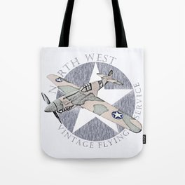 Vintage Flying Airplane Service Tote Bag