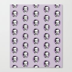 Edgar Allan Poe-ka Dots Canvas Print