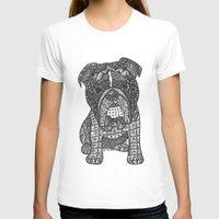 english bulldog T-shirts featuring  Inspired English Bulldog by DiAnne Ferrer