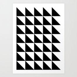 Geometric Pattern 01 Black Art Print