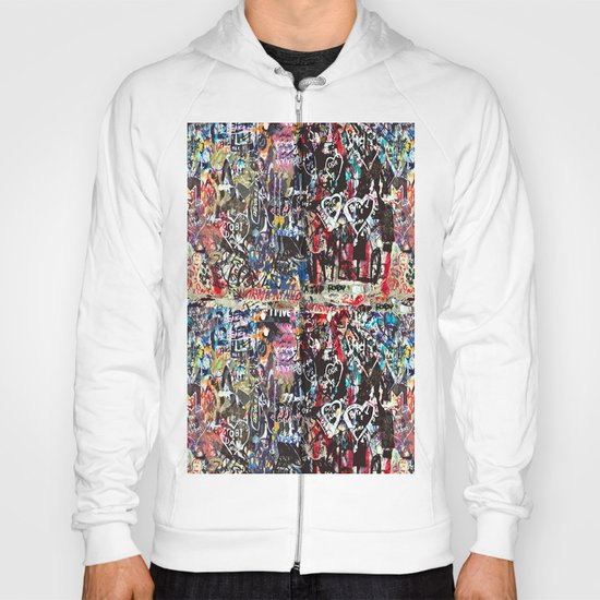 Love wall background Hoody