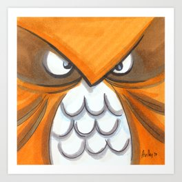 Mood Monster-birds Art Print