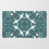 paisley Area & Throw Rugs featuring paisley by gtrappdesign
