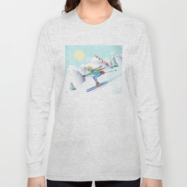 Skiing Girl Long Sleeve T-shirt