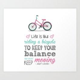 Bicycle Quote Art Print