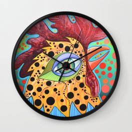 Spotted Chicken Wall Clock
