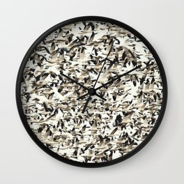 Snow Geese Migration Wall Clock
