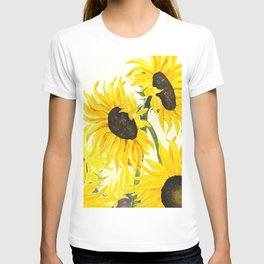 sunflower watercolor 2017 T-shirt