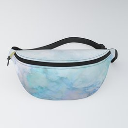 Fresh Blue and Aqua Ombre Frozen Marble Fanny Pack