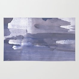 Slate gray stained watercolor Rug