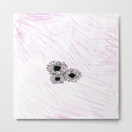 flower with pink background Metal Print