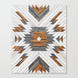 Urban Tribal Pattern 8 - Aztec - Wood Canvas Print