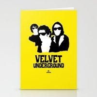 velvet underground Stationery Cards featuring VELVET UNDERGROUND Y by zzglam