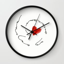 love from kazan Wall Clock