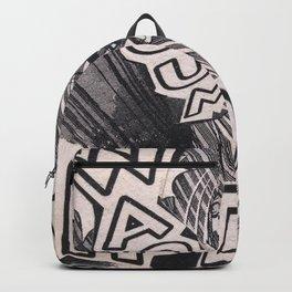 Black and white Pop Art Manga Collage Backpack