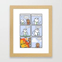 Antics #205 - too much practice Framed Art Print