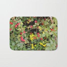 Flower and Berries Bath Mat