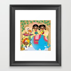 India Party Framed Art Print