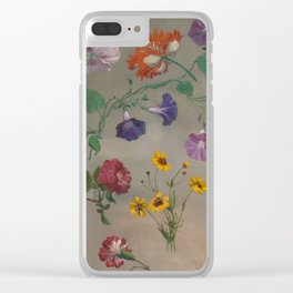 Studies of Flowers by Jacques-Laurent Agasse, 1848 Clear iPhone Case