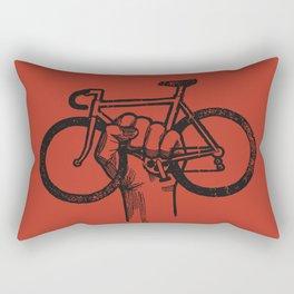 Bicycle Protest Sign Rectangular Pillow