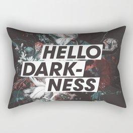 Hello Darkness Rectangular Pillow