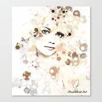 emma stone Canvas Prints featuring Emma Stone by Rene Alberto