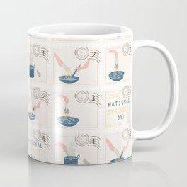 National Spaghetti Day Postage Stamps Coffee Mug